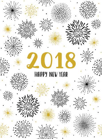 New year fireworks display seamless pattern