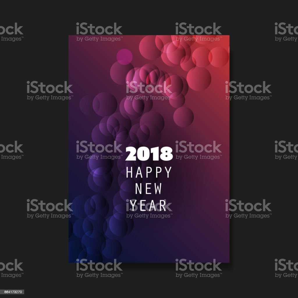 New Year Flyer, Card or Cover Design - 2018 royalty-free new year flyer card or cover design 2018 stock vector art & more images of 2018