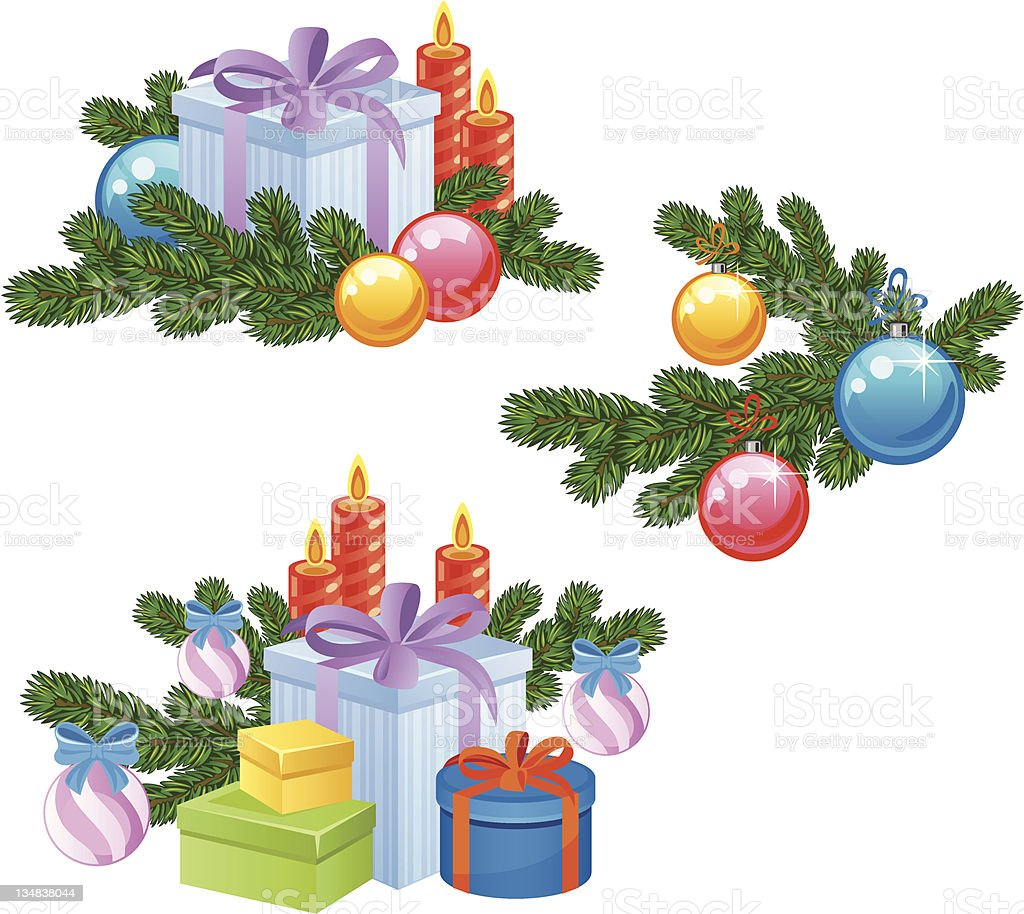 New year gifts royalty-free stock vector art