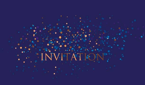 ilustrações, clipart, desenhos animados e ícones de ano novo fundo estrela azul e ouro. noite absract starspattern decorativos para invitatnio, bandeira, yeshivat, superfície de impressão e web design - eventos de gala