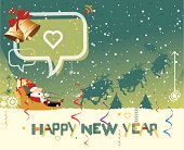 Illustration of New year greeting card.