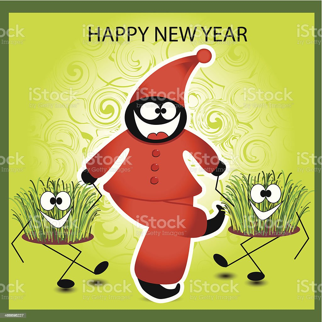 New Year Greeting Card Stock Vector Art More Images Of Abstract