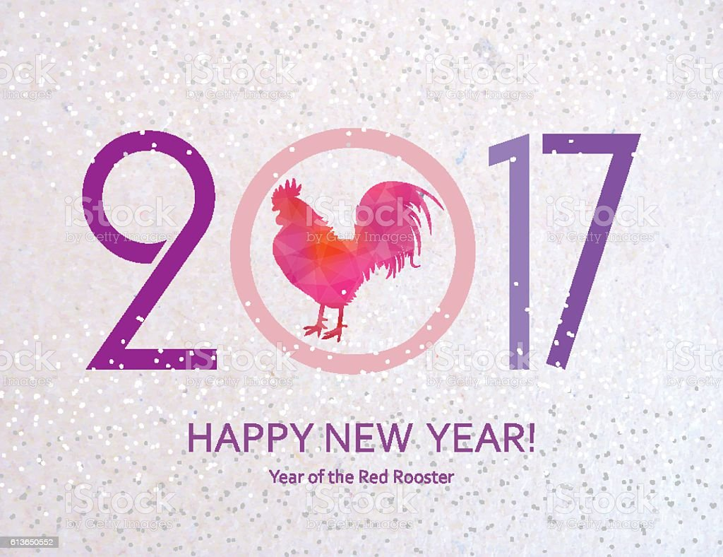 New year greeting card with symbol of 2017 stock vector art more new year greeting card with symbol of 2017 royalty free new year greeting card m4hsunfo