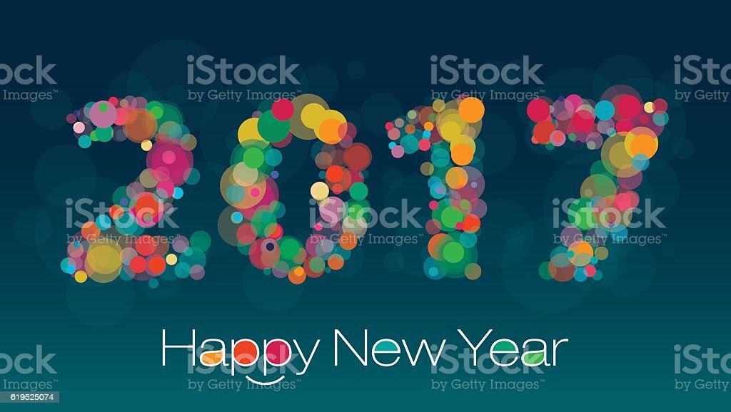 New Year Greeting vector art illustration