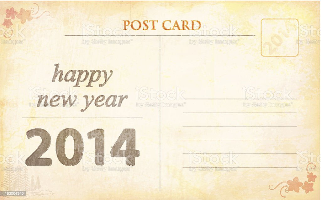 New Year Greetings - Post Card royalty-free stock vector art