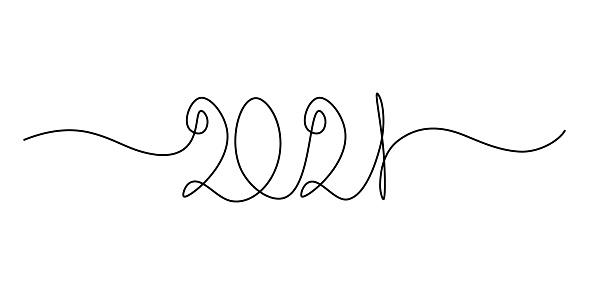 2021 New Year handwritten lettering