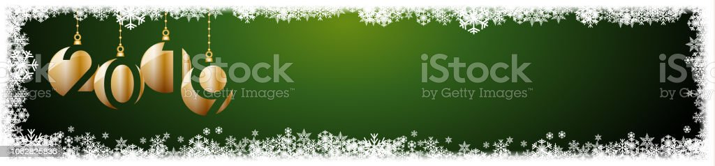b842033ee34f 2019 New Year Header Background Frame Made Snowfall And Ice Crystals ...