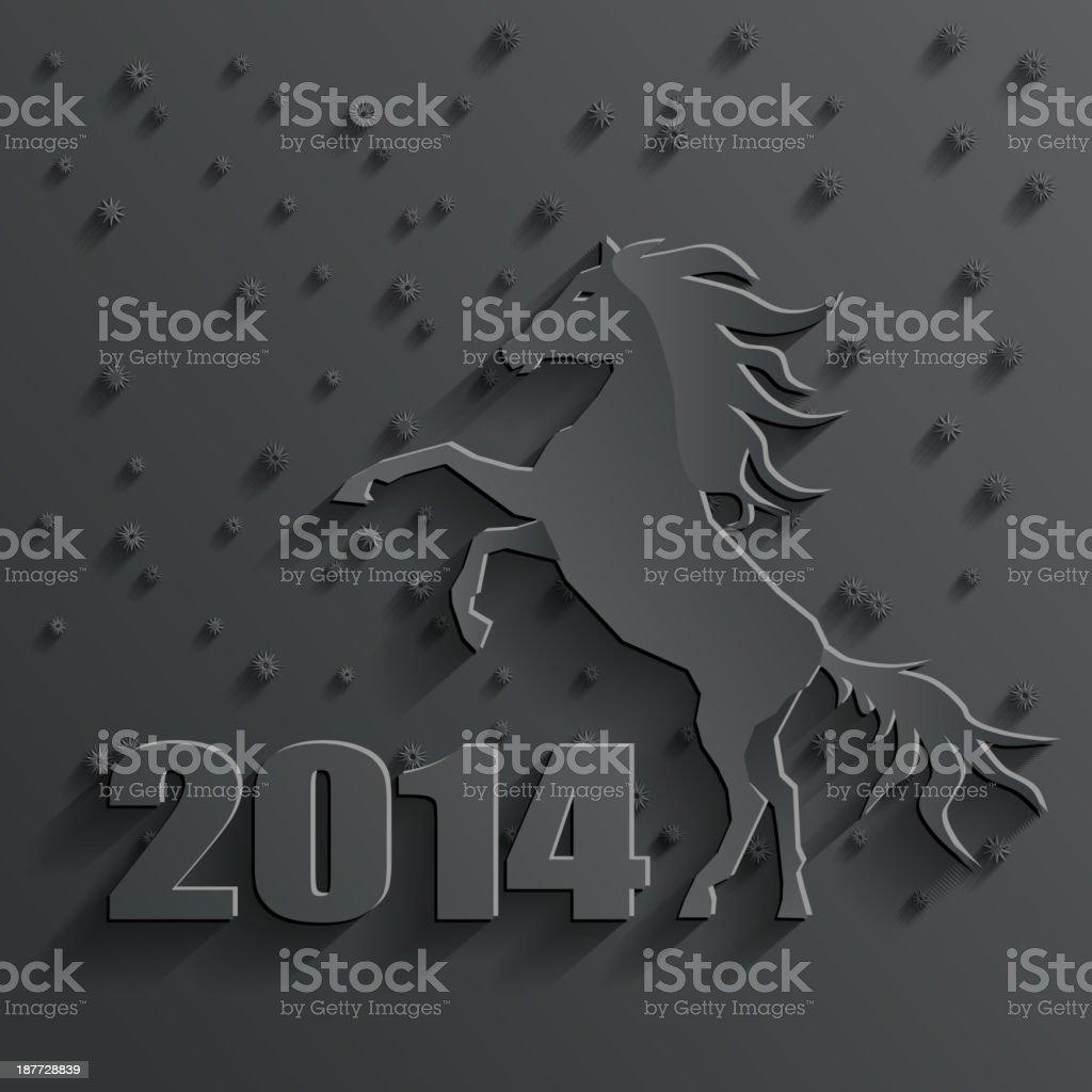 new year horse vector royalty-free stock vector art