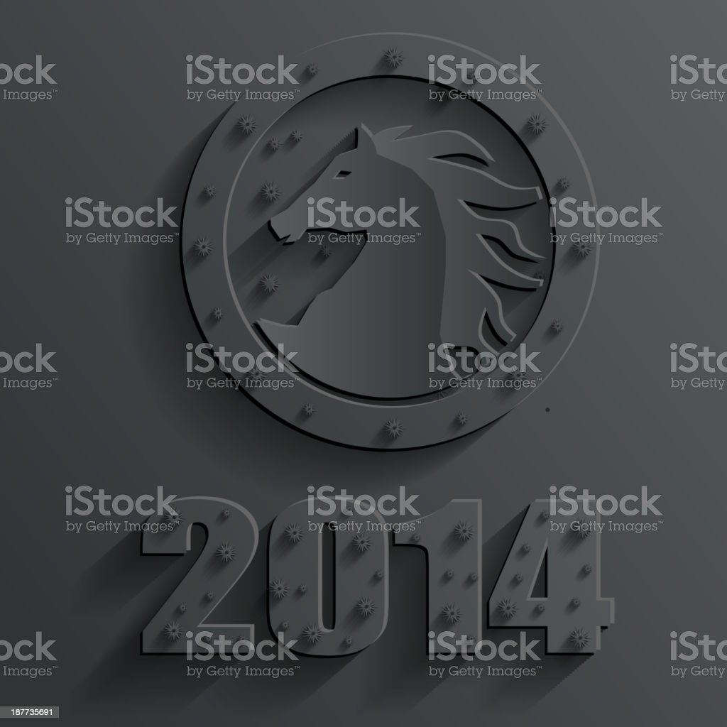 new year horse vector royalty-free stock vector art