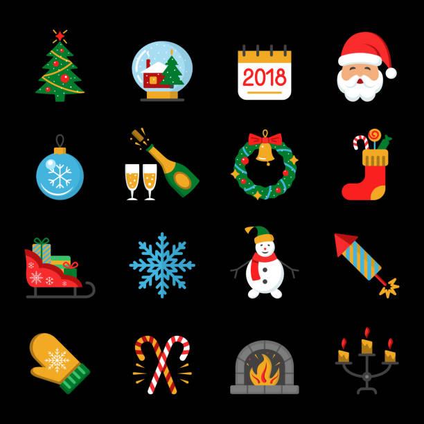 neue jahr ic - weihnachtsmarkt stock-grafiken, -clipart, -cartoons und -symbole