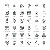 36 New Year Icons - Line Series