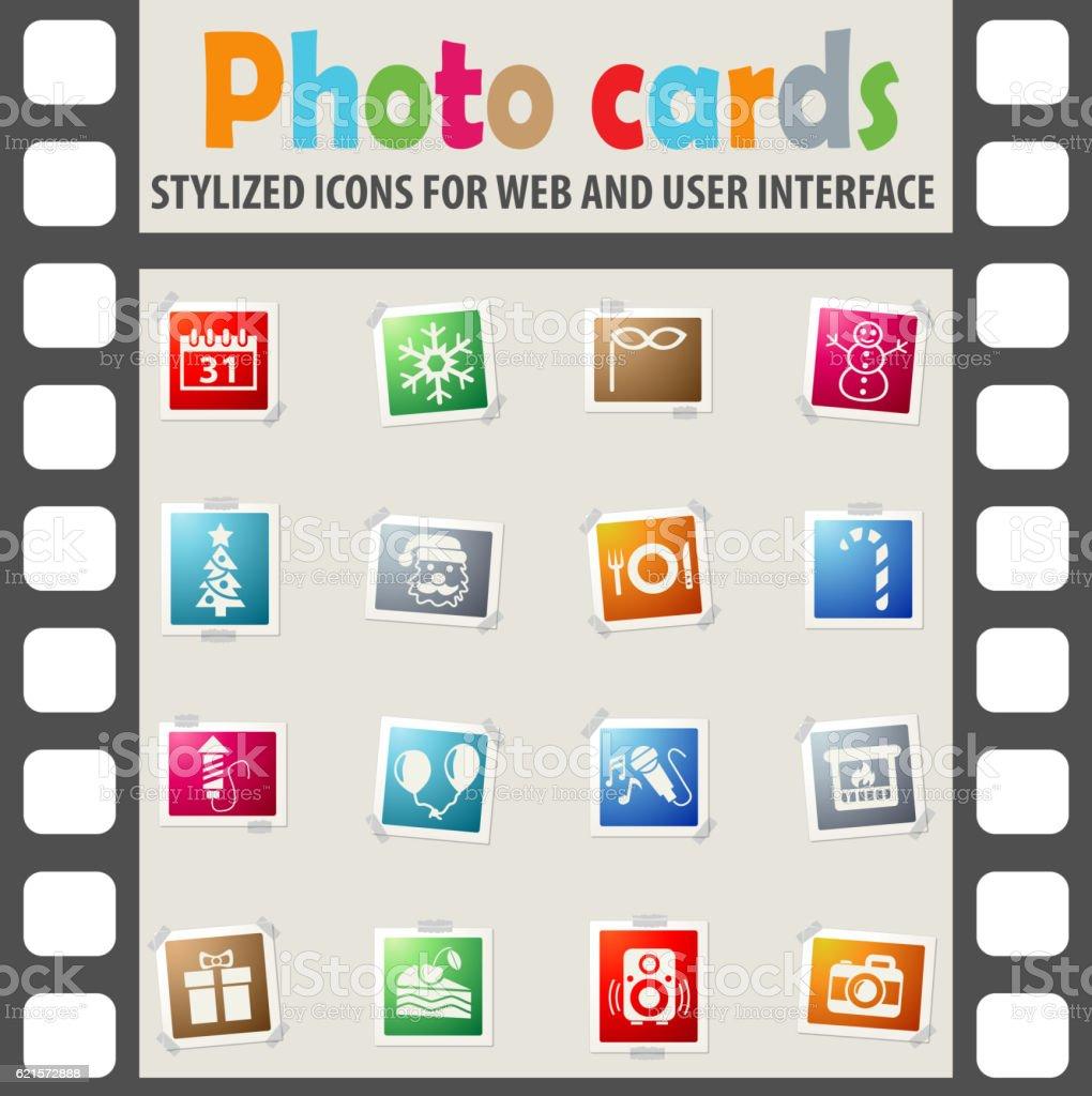 new year icon set new year icon set – cliparts vectoriels et plus d'images de appareil photo libre de droits