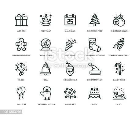 istock New Year Icons - Line Series 1061303296