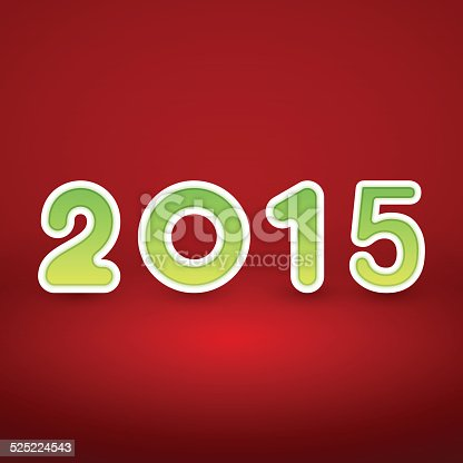 istock New Year image on red background with green figur 525224543