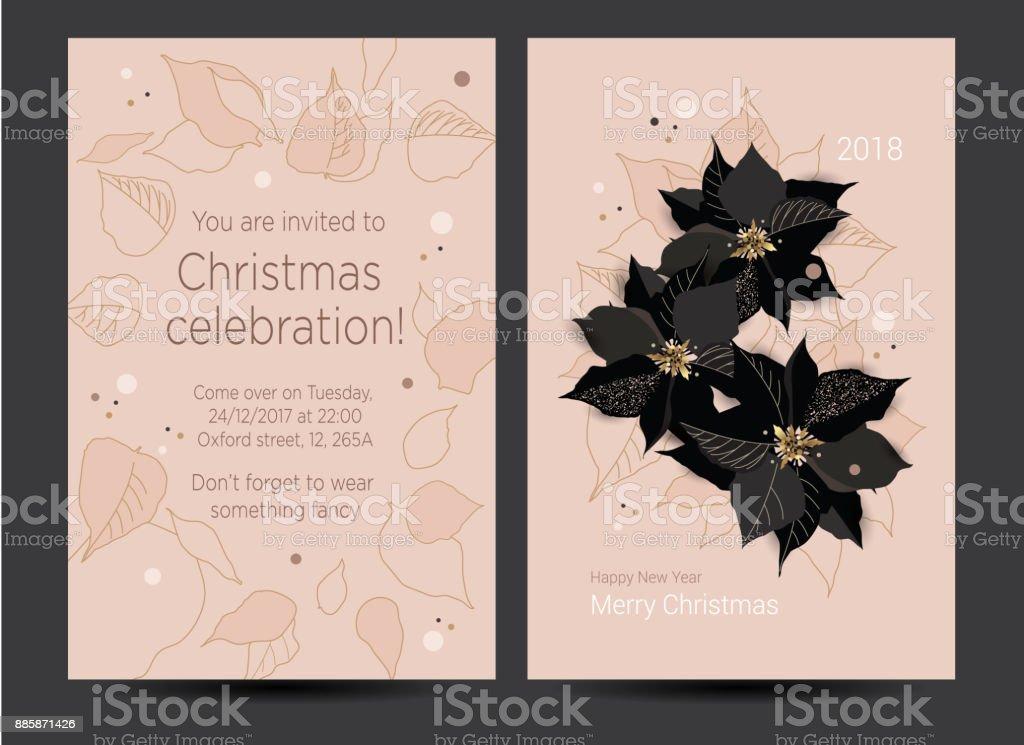 Ilustración De Año Nuevo Tarjeta De La Invitación Para La