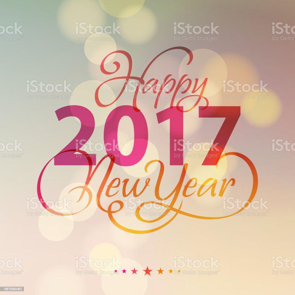 New Year Lighting Background 2017 vector art illustration
