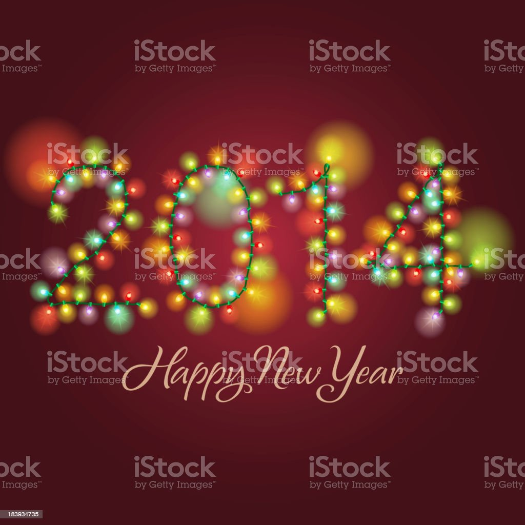 New Year Lighting Background royalty-free stock vector art