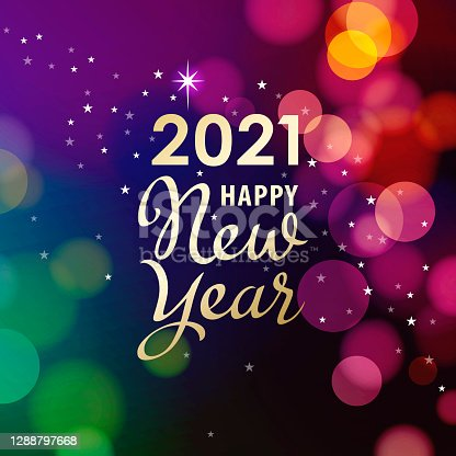 2021 New Year Lights Background