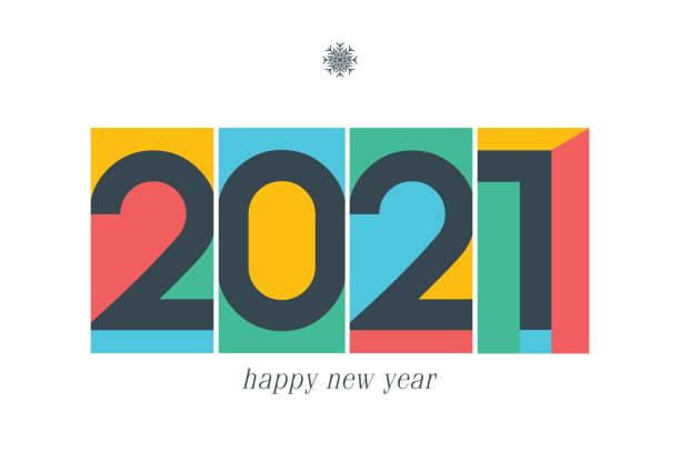 ilustraciones, imágenes clip art, dibujos animados e iconos de stock de logotipo de año nuevo 2021. tarjeta de felicitación de vacaciones. ilustración vectorial. diseño de vacaciones para tarjeta de felicitación, invitación, calendario, etc. ilustración de stock - font