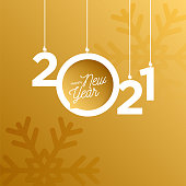 2021 New Year logo. Holiday greeting card. Vector illustration. Holiday design for greeting card, invitation, calendar, etc. stock illustration
