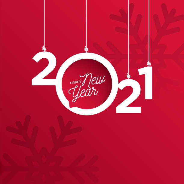 2021 New Year logo. Holiday greeting card. Vector illustration. Holiday design for greeting card, invitation, calendar, etc. stock illustration 2021 New Year logo. Holiday greeting card. Vector illustration. Holiday design for greeting card, invitation, calendar, etc. stock illustration new years day stock illustrations