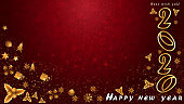 2020 new year Merry Christmas  background with gold color