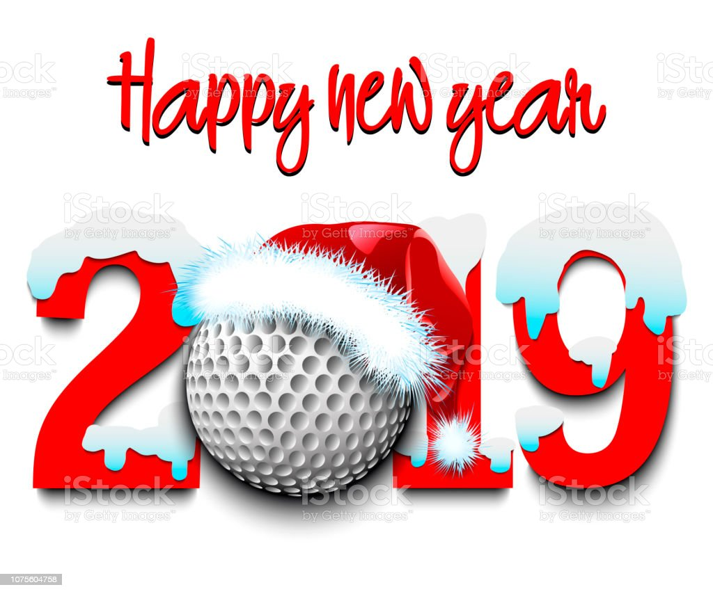 Image result for happy new year clip art golf