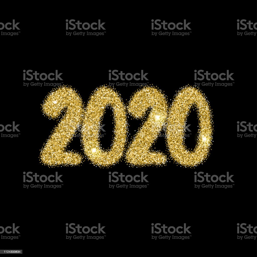 Calendrier Feu D Artifice 2020.2020 Nouvel An Explosion De Feu Dartifice Lumineux Chiffres