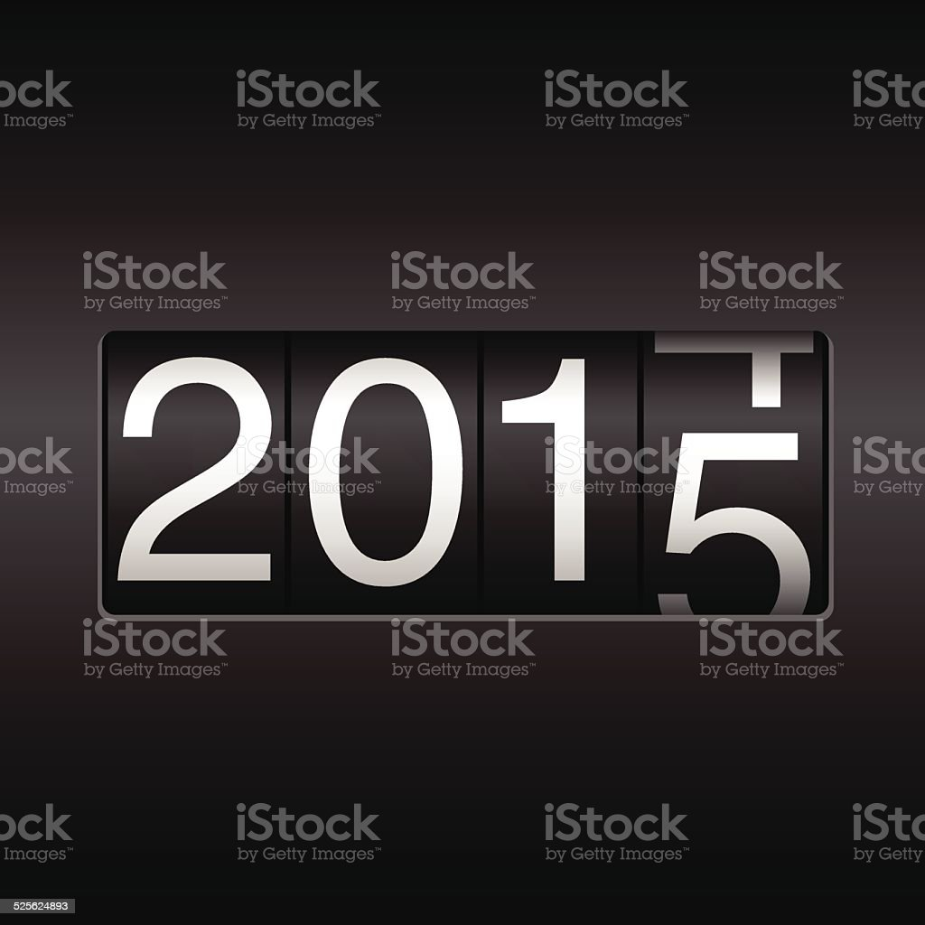 New Year Odometer 2015 vector art illustration