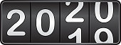 New year 2020 background decorative with odometer number counter.