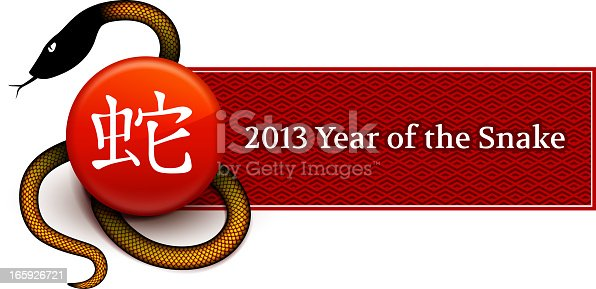 istock New Year of the Snake 2013 with 3D Chinese Lettering 165926721