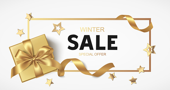 New Year or Christmas Sale design template. Vector illustration.