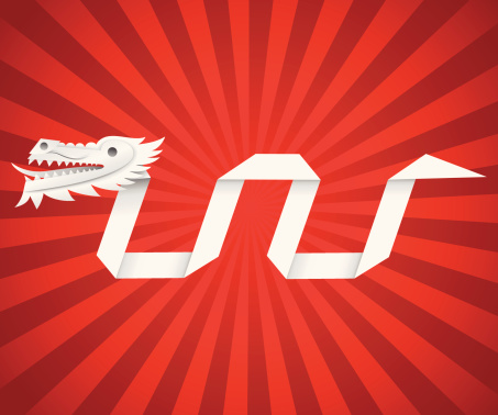 New Year Origami Dragon