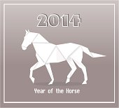 New Years Horse Year Origami Paper
