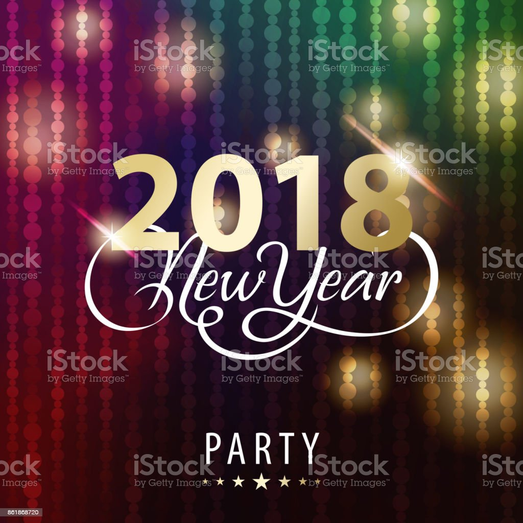 new year party 2018 invitations royalty free new year party 2018 invitations stock vector art
