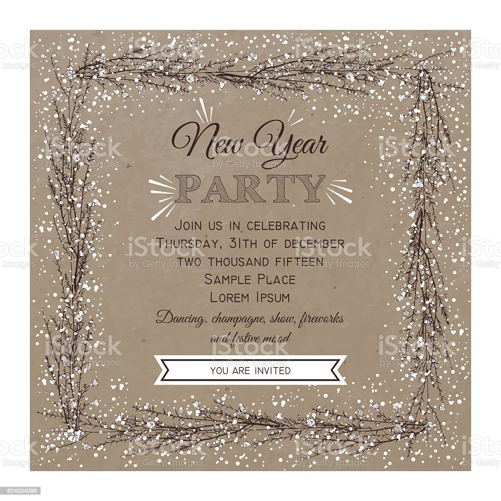 new year party invitation card royalty free new year party invitation card stock vector art