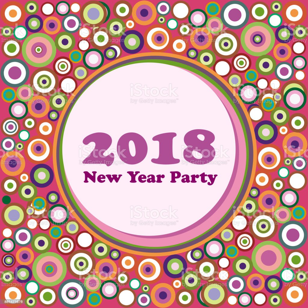 2018 new year party invitation vector abstract vintage background liberty style royalty