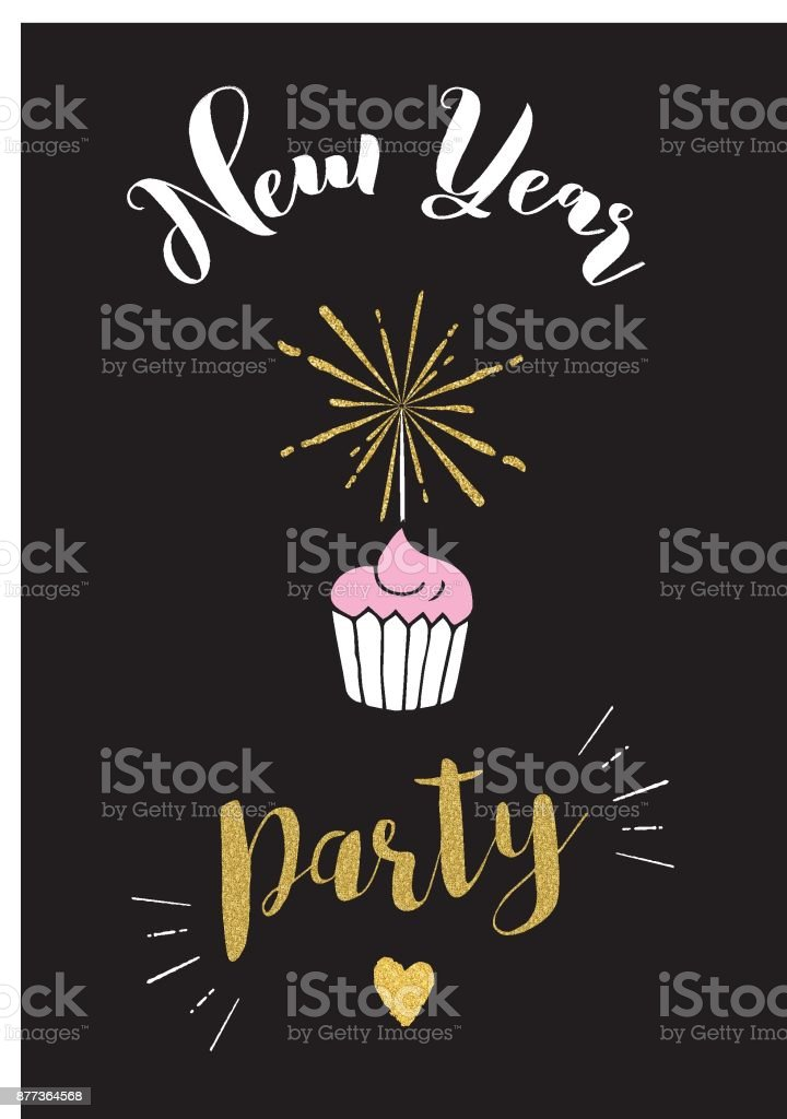 new year party invitation vector illustration royalty free new year party invitation vector