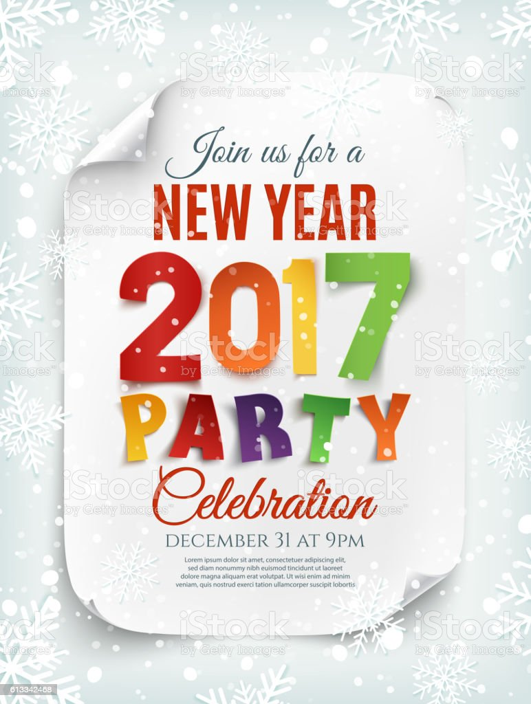 new year party poster brochure or invitation template royalty free new year party