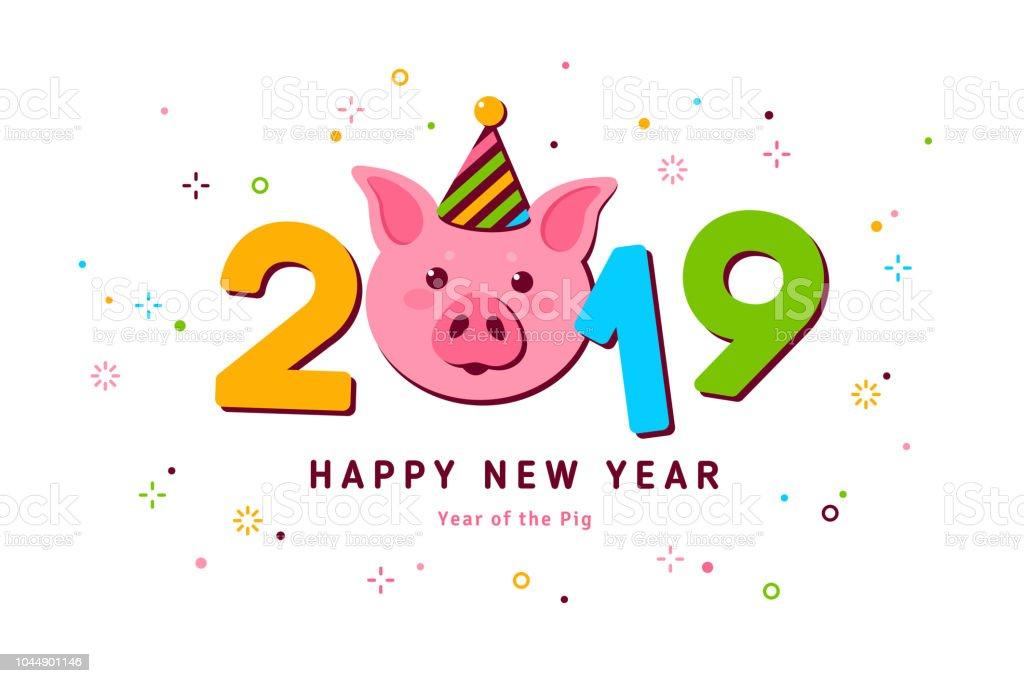 2019 Neujahr Schwein Stock Vektor Art Und Mehr Bilder Von 2019 Istock