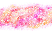 new year pink yellow wave splash, or natural vintage watercolor hand paint background, vector illustration, abstract art