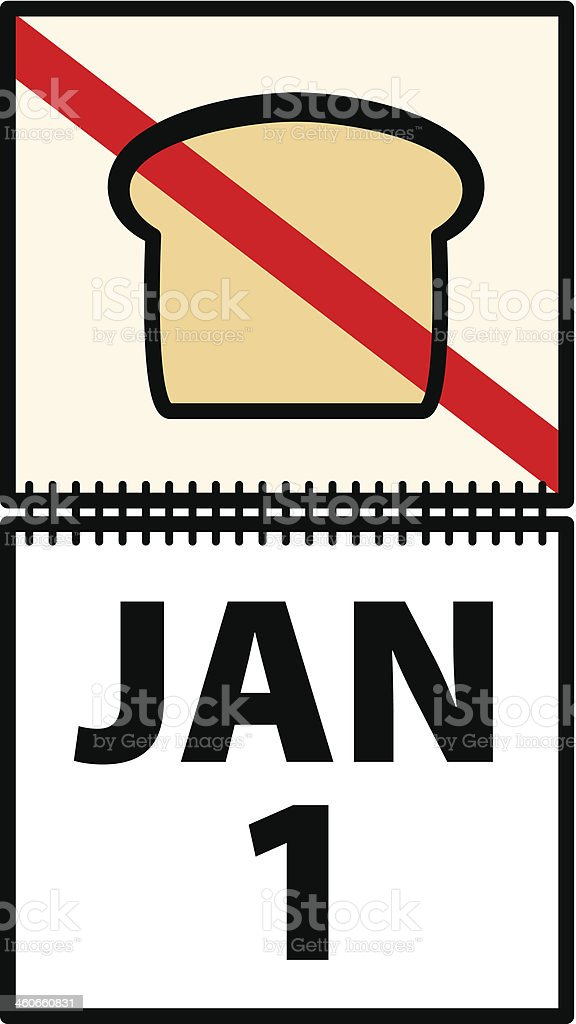 New Year Resolution royalty-free stock vector art