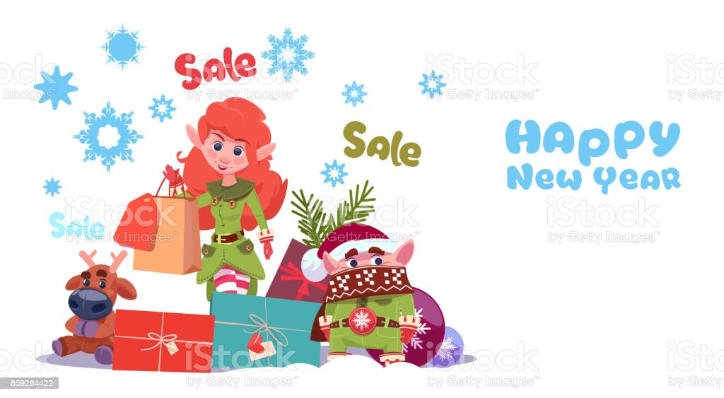 new year sale banner holiday discounts promotion label christmas shopping concept royalty free new year