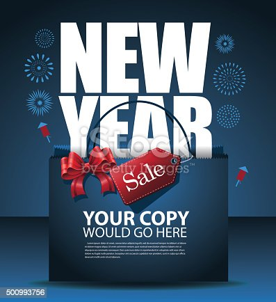 New Year sale design Eps10 vector