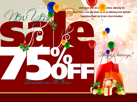 New Year Sales Promotion Background