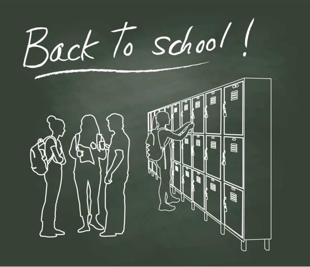 illustrazioni stock, clip art, cartoni animati e icone di tendenza di new year same school - compagni scuola