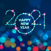 istock 2021 New Year Sparkling Lights 1277060480