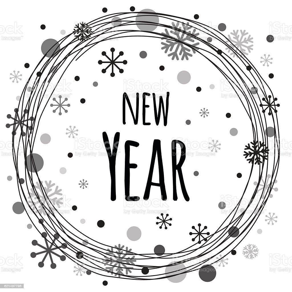 New Year Typography Banner Design Lizenzfreies new year typography banner design stock vektor art und mehr bilder von abstrakt
