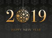 New Year's 2018 Background - Illustration