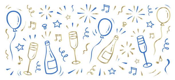 New Year's background vector art illustration